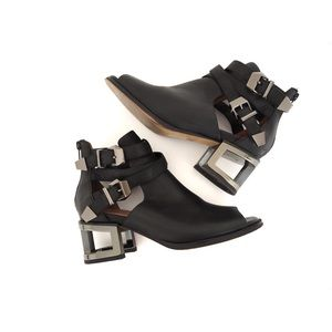 Jeffrey Campbell Gentry Cut Out Buckle Boots
